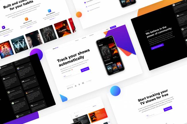 ShowTrackr — UI/UX case study of a landing page optimized for conversions